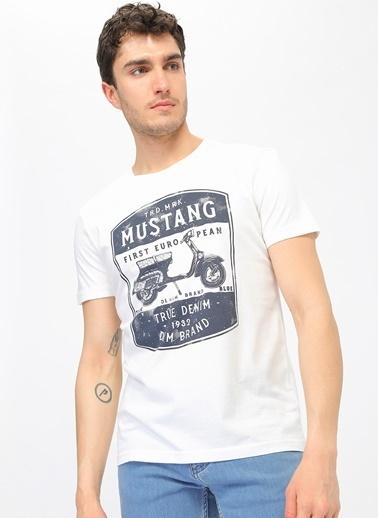 Mustang Tişört Ekru